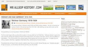 Mr Allsop's History Website