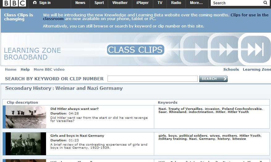 BBC Class Clips