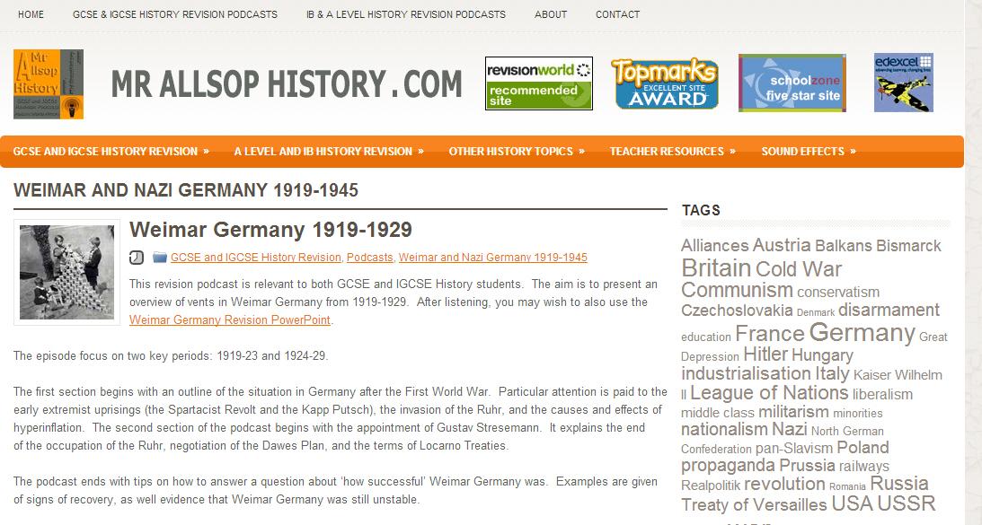 Mr Allsop's History Website