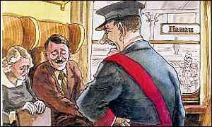 Hitler Satirical Cartoon