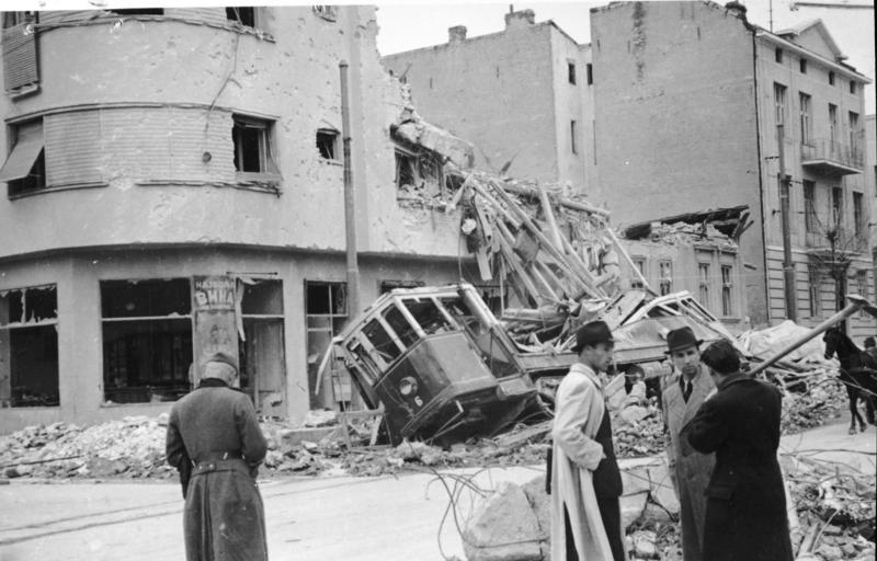 Bomb Damage in Belgrade, April 6/7th 1941